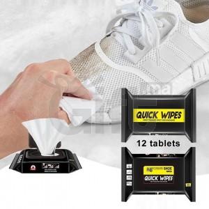 Quick Wipes Lingettes de nettoyage espadrille et chaussure Essuyage facile comme neuf
