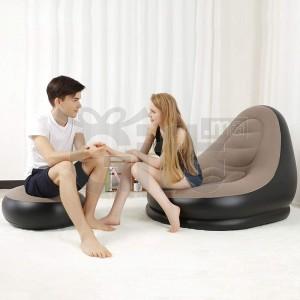 Canapé Gonflable d'air, Pouf, canapé inclinable portatif pour Le Camping, randonnée, Voyage, Plage, Jardin