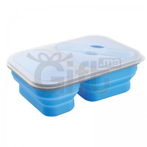 Lunch box en silicone à double compartiment