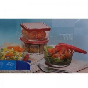 4 Bol De Nourriture En Verre - 520ml