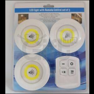 Kit de 3 LED light avec télécommande de contrôle