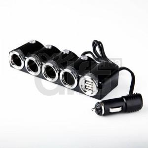 CONVERTISSEUR ALLUME-CIGARE VERS 2 USB + 4 ALLUME-CIGARES