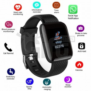 D13 Smart Fitness - Bracelet Tracker Heart Rate Monitor Smartband