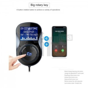 Bluetooth Car Charger Handsfree FM Transmitter - BC30B