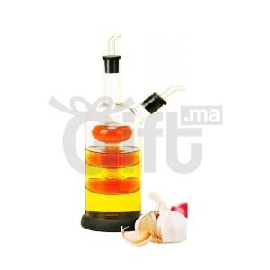 HUILIER en verre double 2 en 1 huile et le vinaigre - verre soufflé - BONOMI