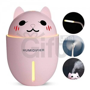 HUMIDIFICATEUR CHAT À ULTRASON 3EN1 - HUMIDIFICATEUR, VENTILATEUR & VEILLEUSE