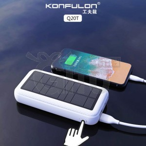 Power Bank Solaire Konfulon 2019 de 20000 mAh & 2USB