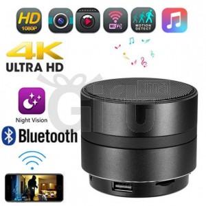Haut Parleur Bluetooth Caméra de Surveillance WIFI HD accès a Distance 4K