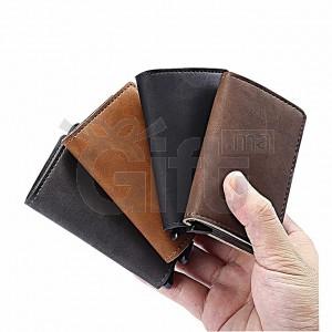 Portefeuille en cuir avec Étui RFID pour cartes bancaires