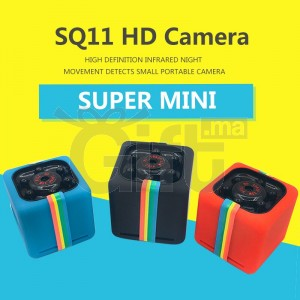 Super Mini Caméra Wifi Panoramique - SQ11 HD - Portable 12MP Full HD - 1080p Vision nocturne