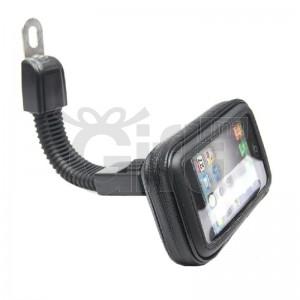 Support de Téléphone Pour Moto & Vélo - Rear-View Mirror Mount Mobile Phone Holder Sac étanche pour Téléphones, GPS etc..