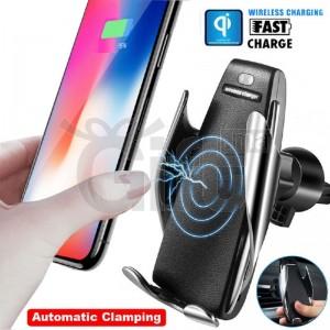 Support Téléphone De Voiture & Chargeur Sans Fil à Serrage Automatique 2 en 1 - Support Rotation 360° S5