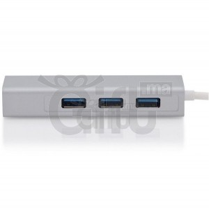TYPE-C3.0 3PORT HUB With Gigabit Ethernet Adapter For Macbook