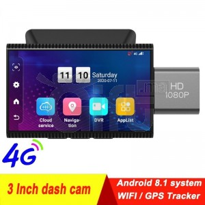 4G Android 8.1 voiture DVR GPS caméra FHD 1080P