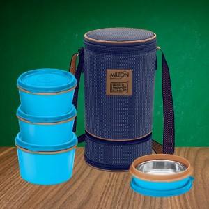 Milton Boîte à Lunch - Isolée En Acier Inoxydable Flexi - 4 pièces (Multicolour)
