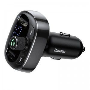 Baseus - Bluetooth Mains Libres Autoradio Double USB Chargeur
