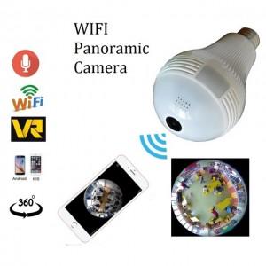 Caméra Espion - Ampoule - Wifi HD Panoramique 360° Avec Accès par Smartphone