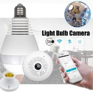 Ampoule - Caméra Espion - Wifi HD Panoramique 360° Avec Accès par Smartphone
