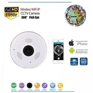 Caméra V380s Plafond 360 Degrés Sans Fil Wifi Avec Accès par Smartphone + Vision Nuit D'intérieur et ExtérieursV380