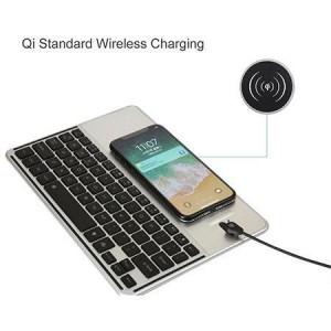 Clavier Bluetooth universel avec chargeur de téléphone sans fil