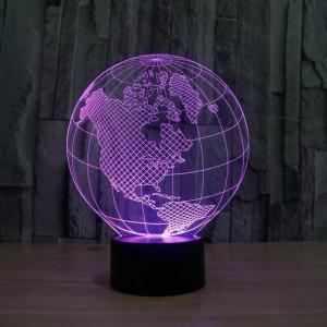 Creative Lamp 3D - Forme Terre + Haut-parleur Bluetooth