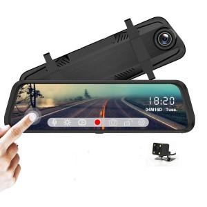 Dashcam - Rétroviseur Double Caméra Avec Écran Tactile de 10 Pouces 1080P