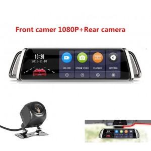 Dashcam - Rétroviseur Double Caméra Avec Écran Tactile de 10 Pouces Full HD