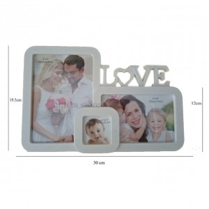 Cadre Photo Forme Love - Blanc