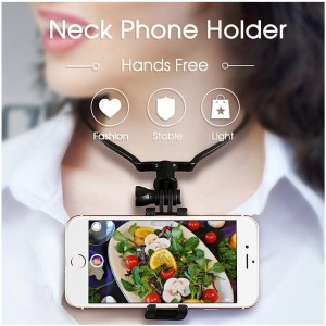 Handsfree POV Point de vue Photo Video Selfie NeckBand Mount pour Smartphones