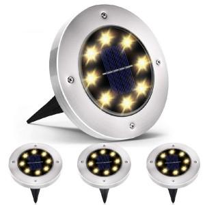 Lampe Solaire De Sol, LED Étanche Extérieur - 4 Pièces