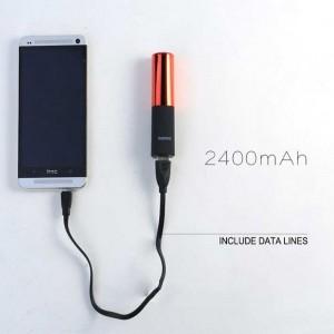 Remax - Powerbank rouge à lèvres puissance 2400 mAh