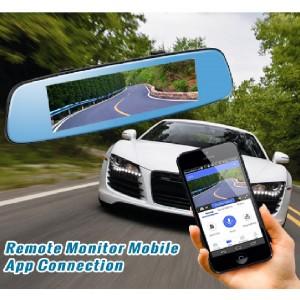Dashcam - Rétroviseur Voiture Avec Écran Tactile 7 pouces équipé de System Android + GPS + Wifi + Support Carte SIM + Bluetooth + Surveillance En Temps Réel & Caméra De Recul