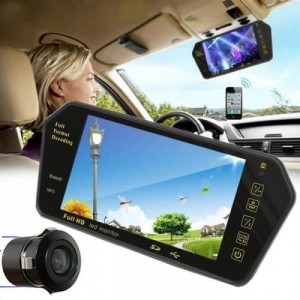 "KIT MAINS LIBRES - Full HD LED Inverse Parking Écran 7"" Avec Bluetooth MP5 SD Carte USB"
