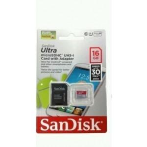 Carte Mémoire MicroSDHC SanDisk Ultra 16 Go