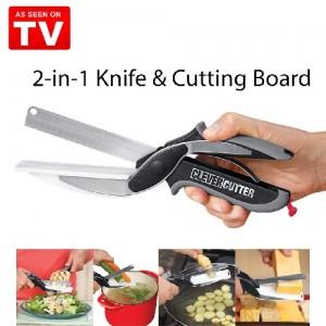 Couteau & planche à découper - Coupe Express 2 en 1 (Samrt Cutter)
