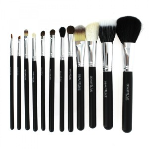 Kit pinceaux maquillage cylindre 12 pinceaux