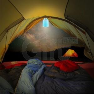 Enceinte éclairée LED Bluetooth extérieur, Camping