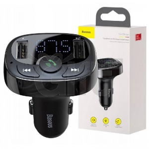 Baseus - Bluetooth Mains Libres Autoradio Double USB Chargeur