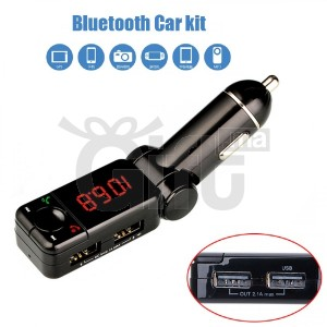 Bluetooth Car Charger Handsfree FM Transmitter - M318 - Black