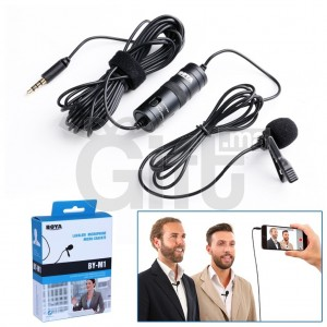 Boya BY-M1 Microphone Cravate 3,5 mm pour Andriod / IOS / Windows / Mac