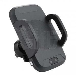 Support Téléphone De Voiture & Chargeur Sans Fil à Serrage Automatique 2 en 1 - Support Rotation 360° C2