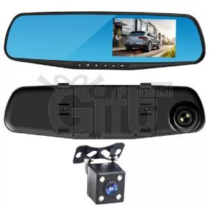 Dashcam - Caméra Voiture Rétroviseur Double Caméra 2x Avec FULL HD