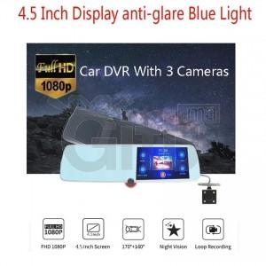 Dashcam - Rétroviseur Triple Caméra Avec Ecran Tactile