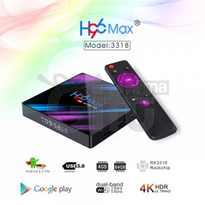 H96 Max 4 Go / 32 Go Android 9 - Android TV