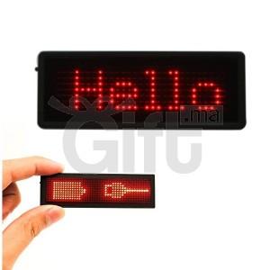 Badge Avec Message lumineux personnalisable
