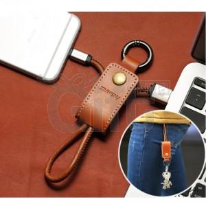 Porte-Clés En Cuir Avec Cable USB Pour SAMSUNG