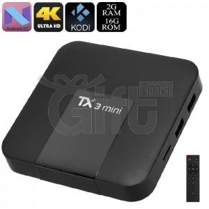 TV Box - Tanix TX3 Mini - Smart TV Box 4K sous Android 7.1, Quad-Core, WiFi, Bluetooth