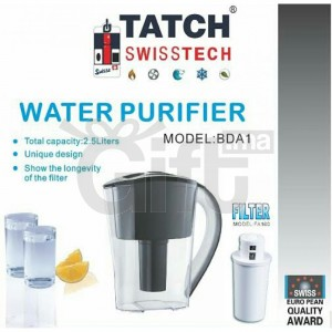 Carrafe purificateur d'eau - Tatch Swisstech