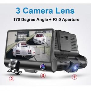 Camera voiture - Dashcam avec 3 caméras