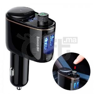 BASEUS - Lecteur Bluetooth Voiture USB Double MP3 de Charge